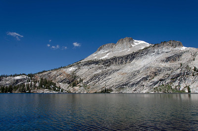 I wandered part way around May Lake. This is a view of Mt Hoffmann from the north end of the lake looking southwest.