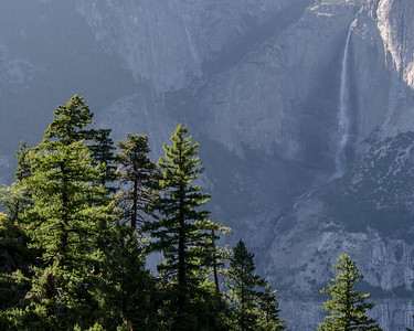 The upper 2 falls of Yosemite Falls as I head back up to Glacier Point.