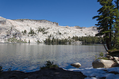 May Lake with Jack Frost still hanging around.