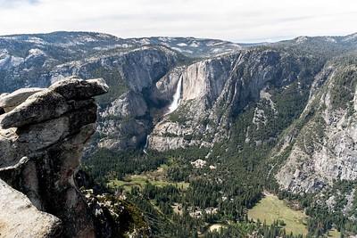Yosemite Falls from Glacier Point.