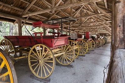 Historical transportation of the early days at Wawona.