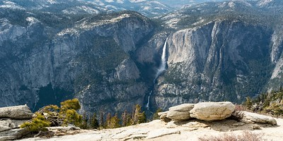 The 360 degree view from the top of Sentinel Dome is spectacular. This is Yosemite Falls from there.