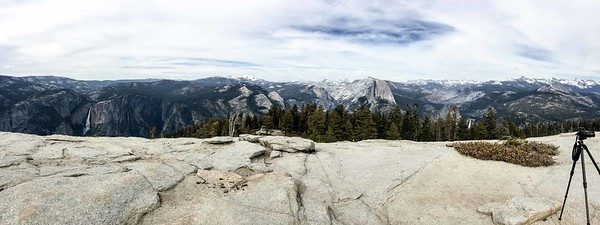 Note to self...It's important when shooting a Pano to move your stuff out of the shot. lol. This taken from the top of Sentinel Dome.