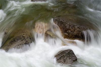 The power of Tenaya Creek full with spring runoff.