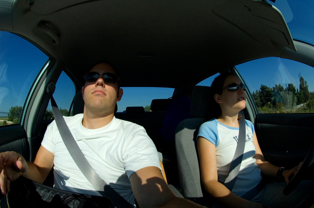 After stopping in San Jose to pick up the fisheye, I thought I'd snap a photo while we drove through Oakdale.