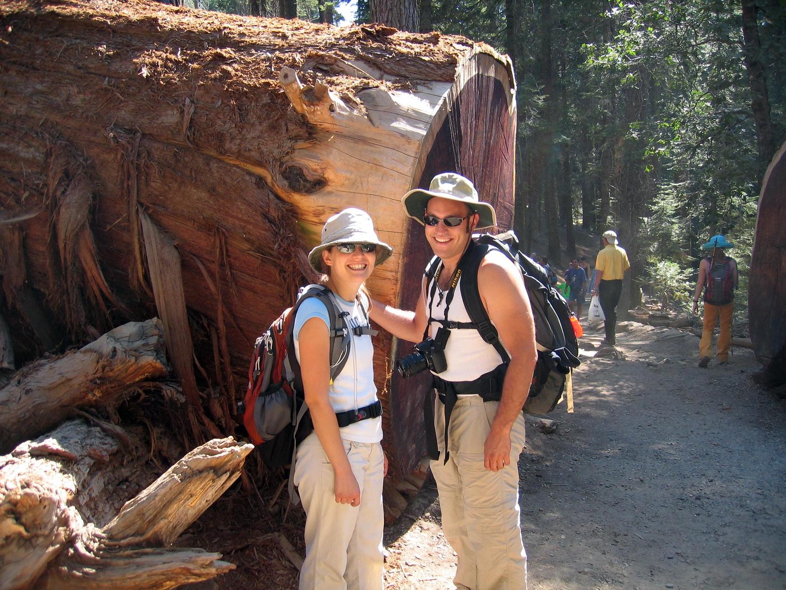 Gina snapped this pic of us at Mariposa Grove