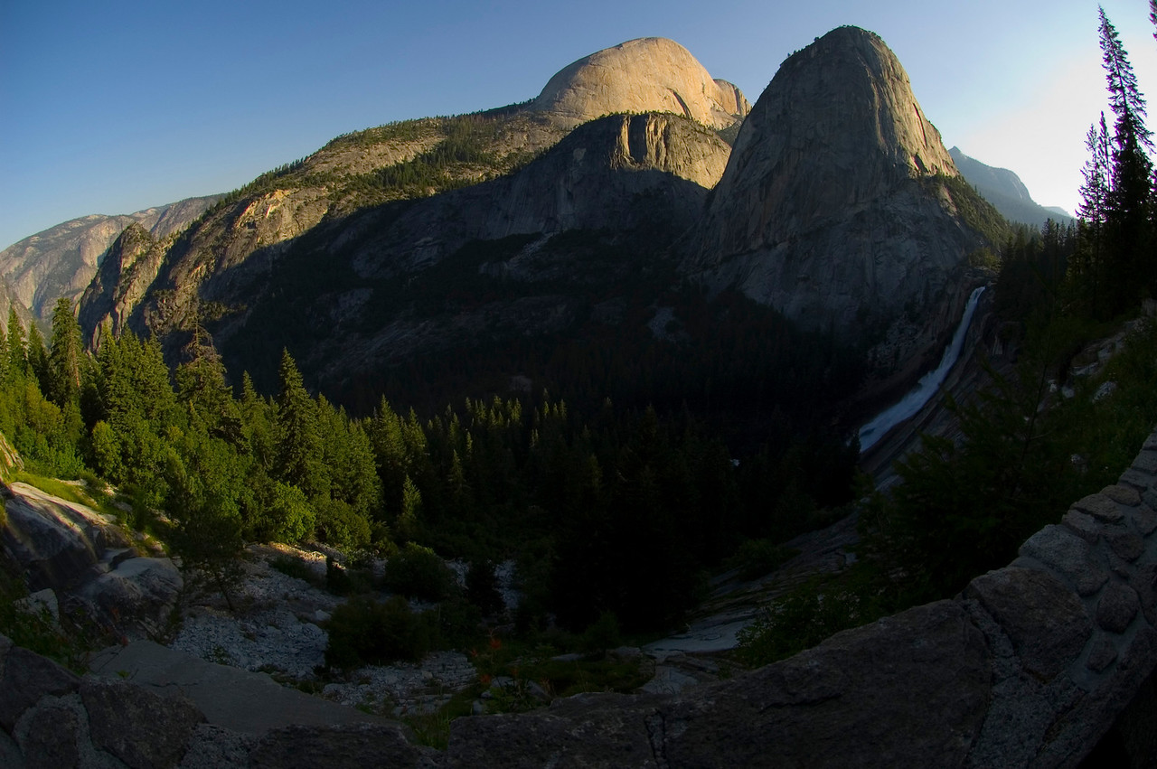 The John Muir Trail with the 10.5mm fisheye lens.