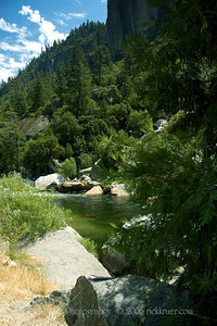 Tall, scenic shot of the calm, serene pools of water on the Merced River near the Arch Rock entrance of Yosemite.  ND70_2006-07-29DSC_6265-MercedRiverPoolsTall-nice-2 copy.jpg