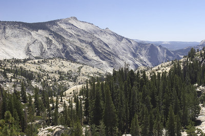 Olmstead point - the back side of halfdome is cut off at the extreme right.