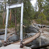 The only swinging bridge that I know of in Yosemite National Park.
