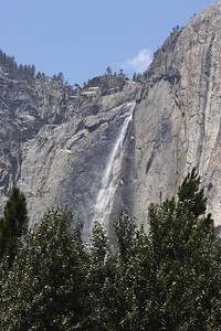 Yosemite falls in good form -- this was taken from the riverbank across from housekeeping.  We literally woke up to this view every morning.