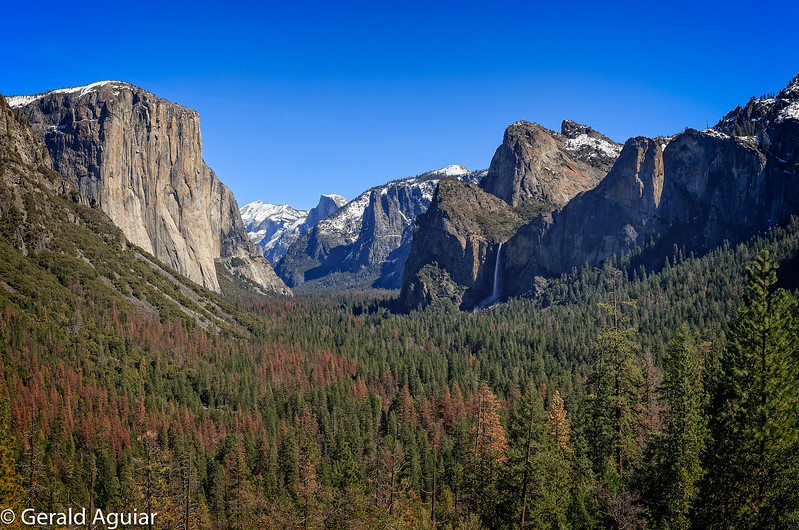 Tunnel View - Leaving Yosemite Valley