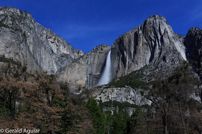 Yosemite Falls From North Cooks Meadow