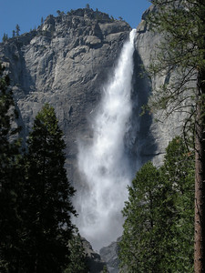 Upper Yosemite Fall. The wind was blowing the fall back and forth quite a bit.