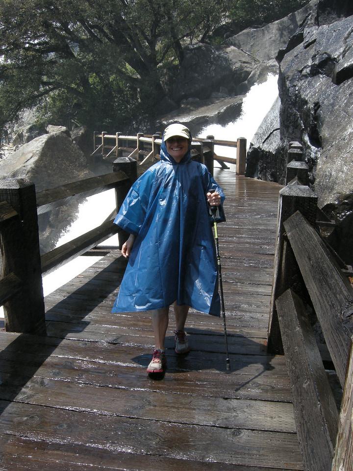 The happy damp hiker!