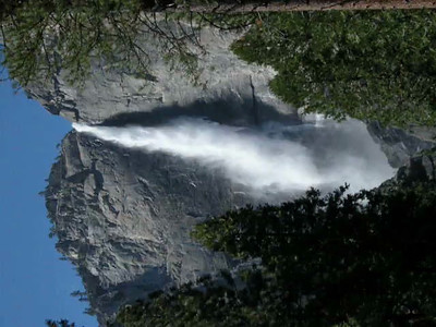 For iPad and smartphone users who can easily tip their screen sideways, here's the unrotated higher-def movie of Upper Yosemite Falls.