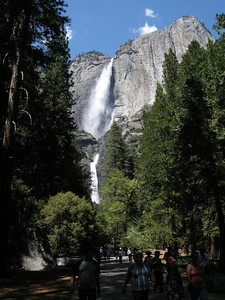 One hears a variety of the world's languages while walking towards Yosemite Falls.