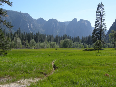 Stoneman Meadow just north of Curry Village. View to west.