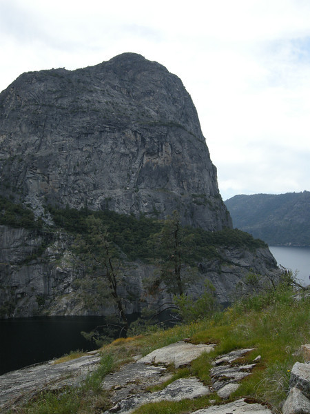 Kolana Rock, a prominent granite dome on the south side of the lake, taken from its east side.