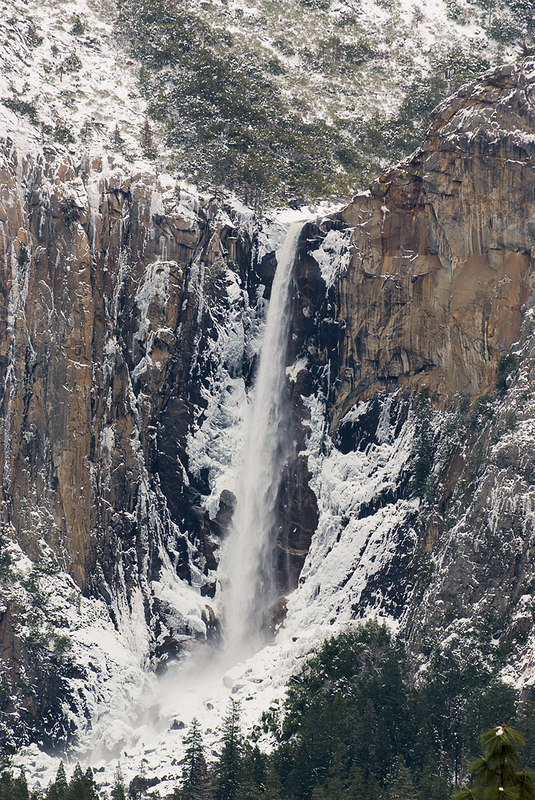 """Bridalveil Falls from Tunnel View""<br /> March 13, 2006"
