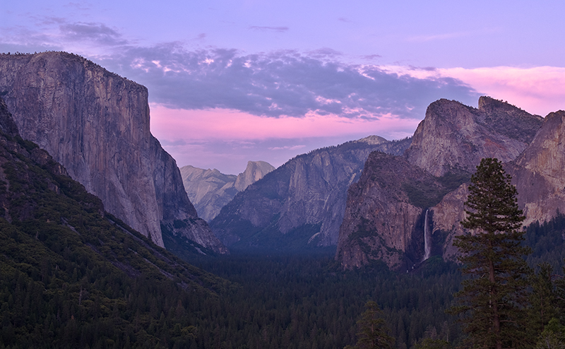 Sunset from Tunnel View (Corrected)