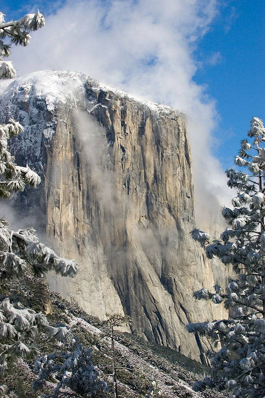 """El Capitan with a Touch of Snow""<br /> 15 January 2006"