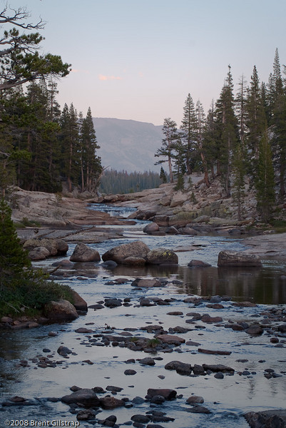 Tuolumne River at Dusk I