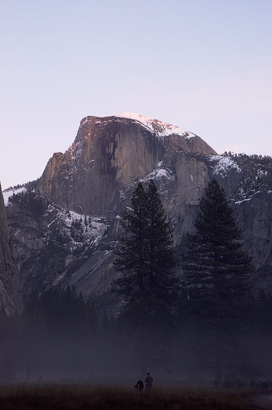 """Half Dome After Sunset"" (corrected)<br /> 13 December 2005"
