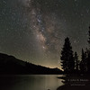 The Milky Way over Tenaya Lake in the high country of Yosemite National Park.  California, USA.