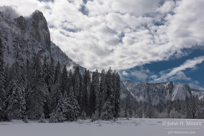 Clearing winter storm in Yosemite National Park, California, USA