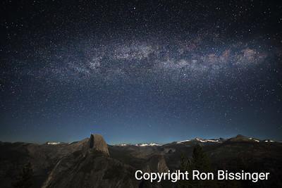 Half Dome Milky Way Rising