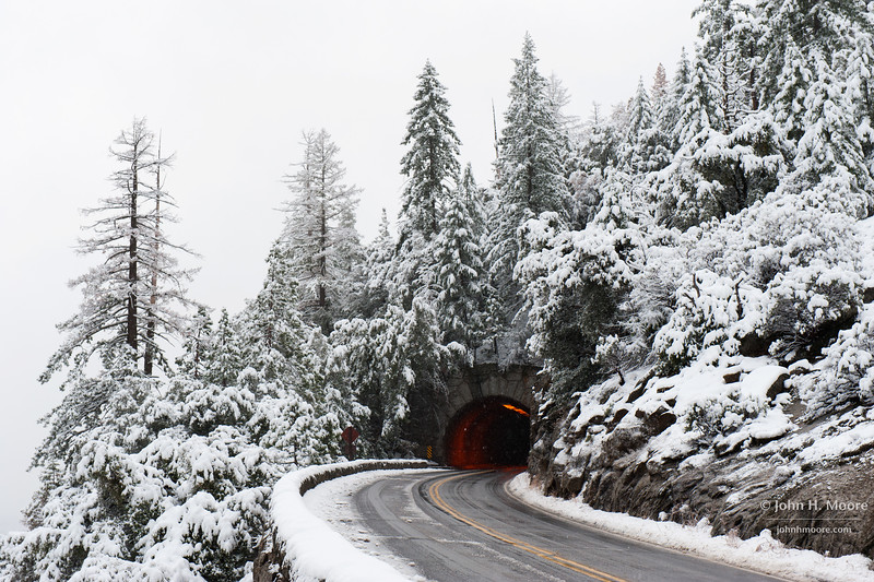 Tunnel along Hwy 120 in Yosemite National Park.