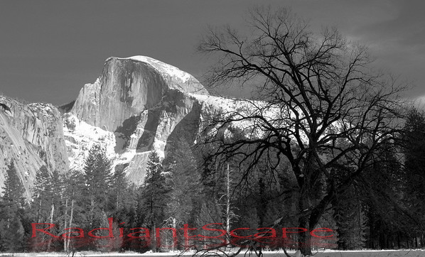Half Dome in the frozen winter, Yosemite