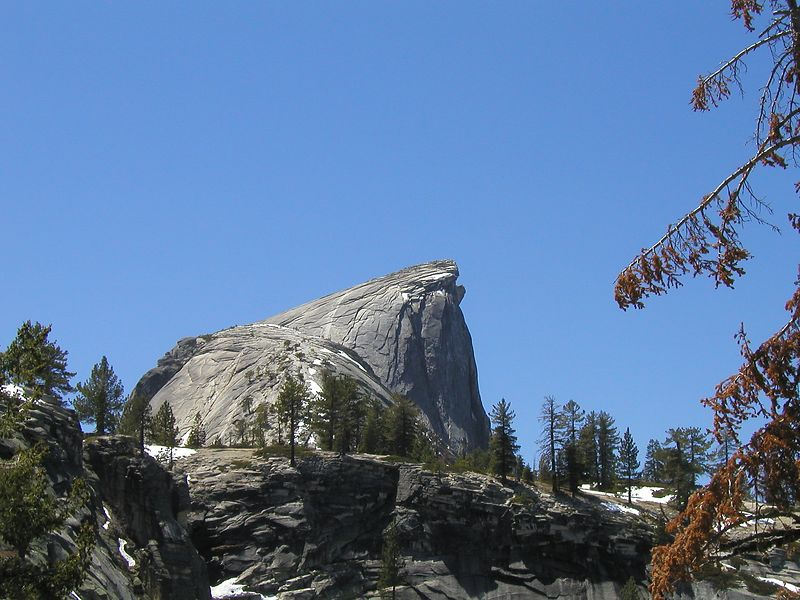 Half Dome - view from the base after a 6 mile hike