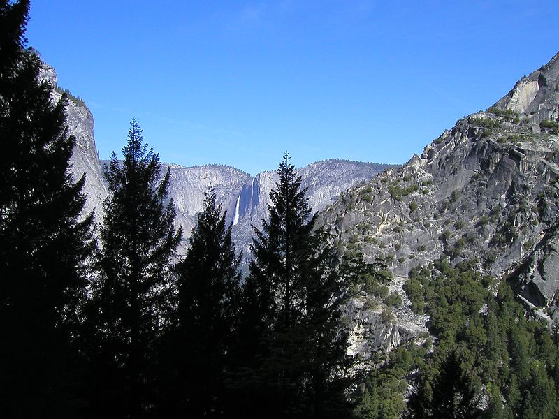 Looking back towards the valley
