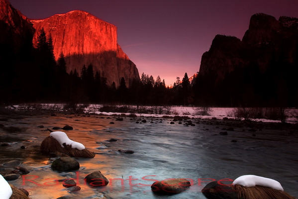 El Capitan Sunset, yosemite