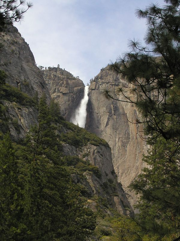Yosemite Falls.  It was early may and all of the falls in the park were at full blast