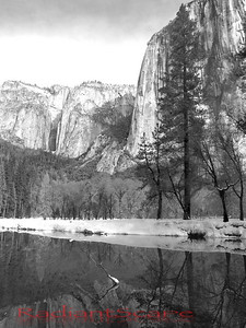 El Capitan reflecting in Merced river, Yosemite