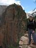 That's right, we're hiking to the top of that (Angels Landing)!  1400ft vertical drop.