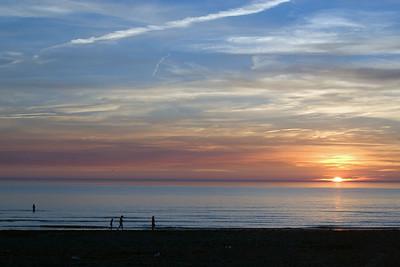 Sunset. Katwijk, 22 juni 2005.