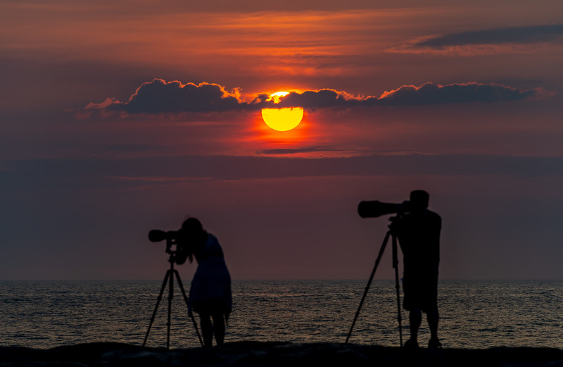Photographers At Sunrise On Shark River Inlet 7/8/20