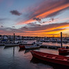 Cloudy Sunset Over Marina, Belmar, NJ