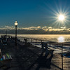 Frigid Sunrise with Sea Smoke at Ocean Grove Pier 1/7/18