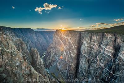Black Canyon Sunset