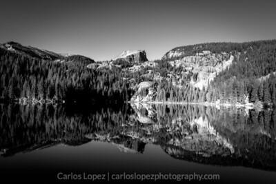 Bear Lake in Black in White