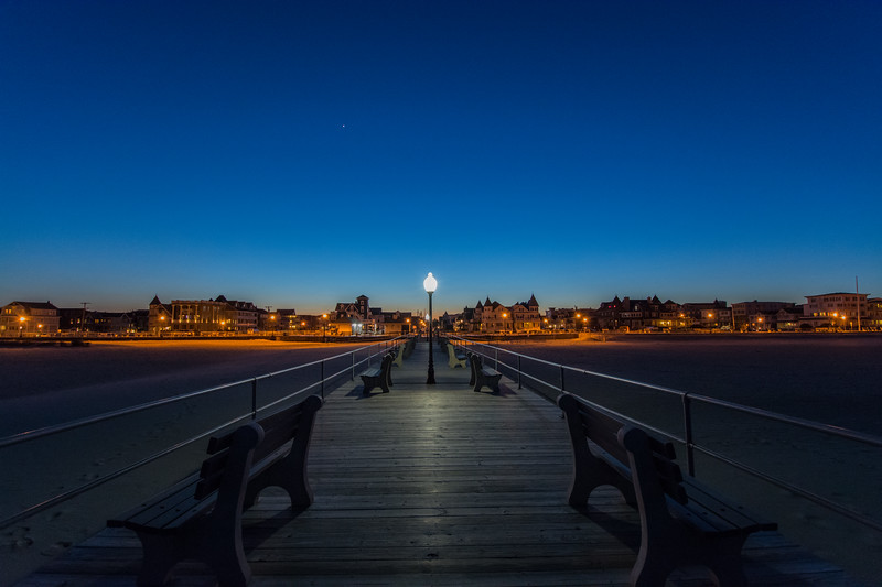 Dusk Over Pier at Ocean Grove, NJ