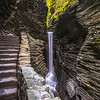 Cental Cascade Waterfall in Watkins Glen State Park, NY 10/16/17