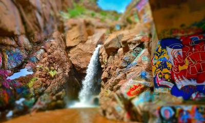 Graffiti Falls - Colorado Springs, CO