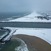 Snow Over Avon-by-the-Sea, Belmar and Shark River Inlet 2/20/19