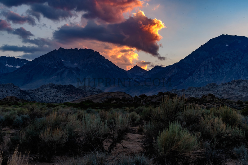 Eastern Sierra Nevada Mountains At Sunset